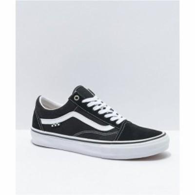 ヴァンズ VANS レディース スケートボード シューズ・靴 Vans Skate Old Skool Black and White Skate Shoes Black