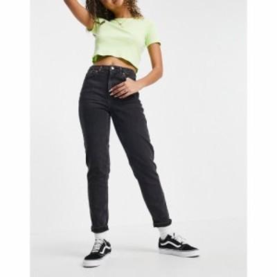 トップショップ Topshop レディース ジーンズ・デニム ボトムス・パンツ Premium Mom jean in wash black ブラック