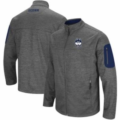 Colosseum コロセウム スポーツ用品  Colosseum UConn Huskies Heathered Charcoal Big & Tall Anchor Full-Zip Jacket