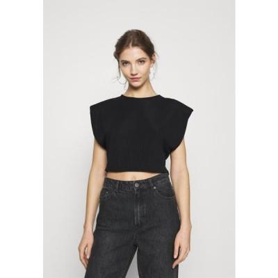 ミスガイデッド レディース ファッション SHOULDER PAD TOP - Basic T-shirt - black