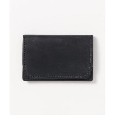 HERRINGBONE CLUB / 英国製THOMASブライドルレザー使用の日本製通しマチカードケース MEN 財布/小物 > カードケース