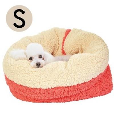 抗菌防臭ふんわりカドルベッド S 犬 猫 ベッド ふわふわ あったか もちもち 秋冬 寒さ対策 丸洗い マット もぐる 軽量 お出かけ ペット