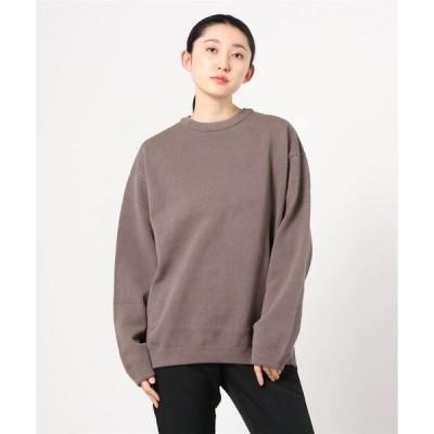 tシャツ Tシャツ crepuscule / クレプスキュール:【レディース】Moss stitch crew slit:2003-003[DEA]