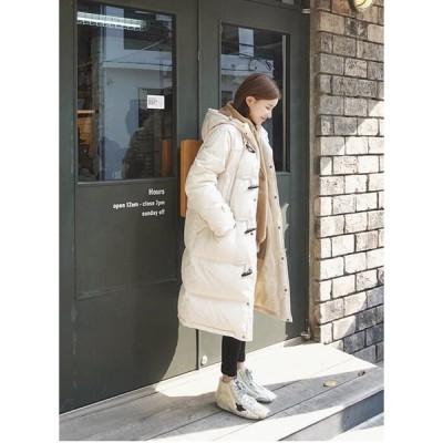 コート 中綿コート フード付き 防寒 カジュアル 大きいサイズ 冬 厚手 ロング 無地 軽量 アウター
