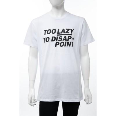 ディーゼル DIESEL Tシャツ 半袖 丸首 クルーネック ADV-TOOLAZY MAGLIETTA メンズ 00SM0A 0LAKY ホワイト
