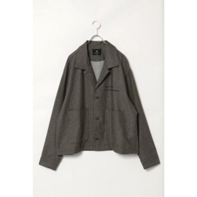 ヴァンスエクスチェンジ メンズ(VENCE EXCHANGE)/綿麻ビッグシルエットジャケット