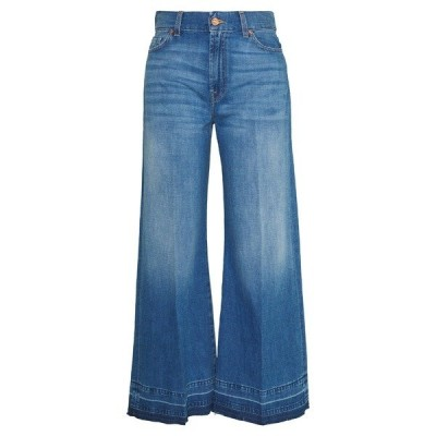 7フォーオールマンカインド デニムパンツ レディース ボトムス LOTTA CROPPED UNROLLED - Bootcut jeans - dark blue
