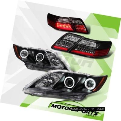 ヘッドライト [CCFL Halo] 2007年2008年2009トヨタカムリプロジェクターヘッドライト+ LEDテールランプセット [CCFL Ha