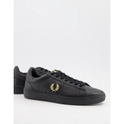 フレッドペリー レディース スニーカー シューズ Fred Perry Spencer leather sneakers in black Black