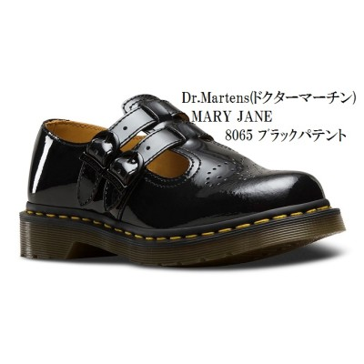 [Dr.Martens] ドクターマーチン8065 MARY JANE 12916001 22494001 ミリタリー カジュアル  正規代理店商品  レディス(ブラック(12916001)×3インチ(22.0〜22.5))