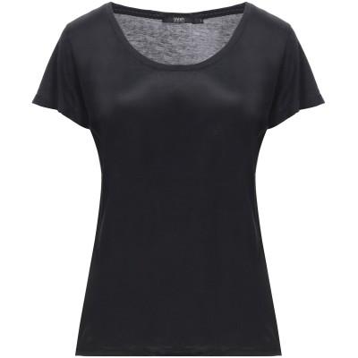 SEVENTY SERGIO TEGON T シャツ ブラック 44 テンセル 67% / コットン 33% / アセテート / シルク T シャツ