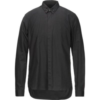 カルバンクライン CALVIN KLEIN COLLECTION メンズ シャツ トップス solid color shirt Black