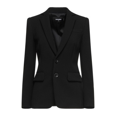 ディースクエアード DSQUARED2 テーラードジャケット ブラック 38 ポリエステル 66% / レーヨン 30% / ポリウレタン 4% テ