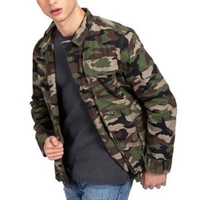 ゲス メンズ ジャケット&ブルゾン アウター Men's Utility Poplin Jacket Traditional Camo Gemstone