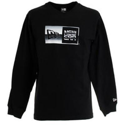 Tシャツ メンズ 長袖 クルーネック  メタリック ボックスロゴ 12108236
