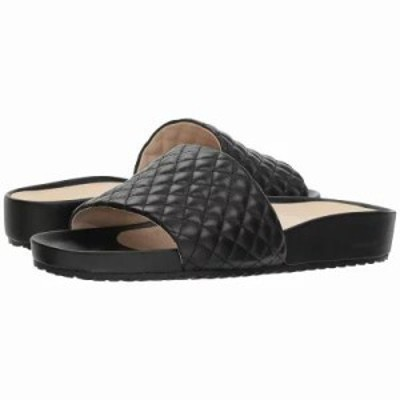 コールハーン サンダル・ミュール G.OS Pinch Montauk Slide Black Quilted Leather