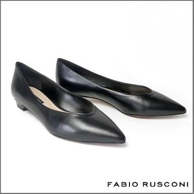 ファビオルスコーニ FABIO RUSCONI ナッパレザー ポインテッドトゥ パンプス ヒール2cm 3384-leather