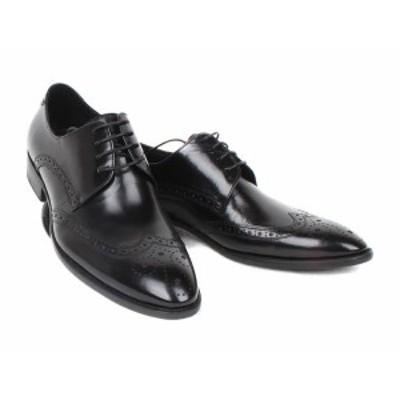 メンズシューズ 人気 ビジネスシューズ 本革 ロングノーズ 紐靴 12051-604BK・BR