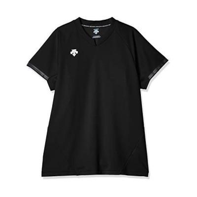 [デサント] 半袖ゲームシャツ 吸汗 速乾 ストレッチ DSS-4024 BLK XO
