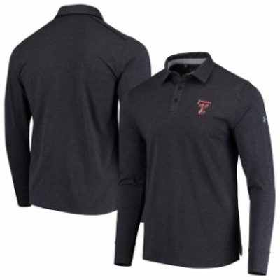Under Armour アンダー アーマー スポーツ用品  Under Armour Texas Tech Red Raiders Black Charged Cotton Long Sleeve Performance Po