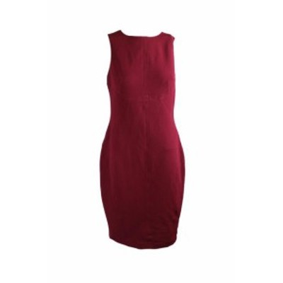 American  ファッション ドレス American Living Red Textured Sleeveless Sheath Dress 8