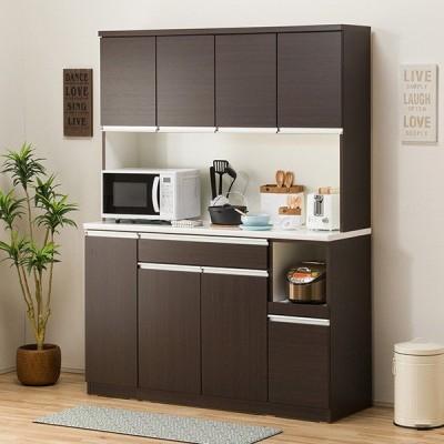 食器棚(レジューム 150TF-H DBR/150TH-R DBR) ニトリ 『配送員設置』 『5年保証』