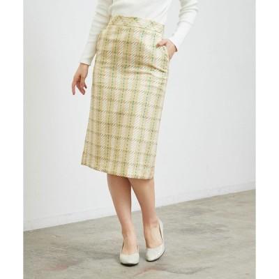 スカート チェックタイトスカート