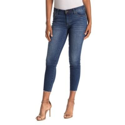 カットフロムザクロス レディース デニムパンツ ボトムス Carlo Raw Crop Hem Skinny Jeans VIBURNUM
