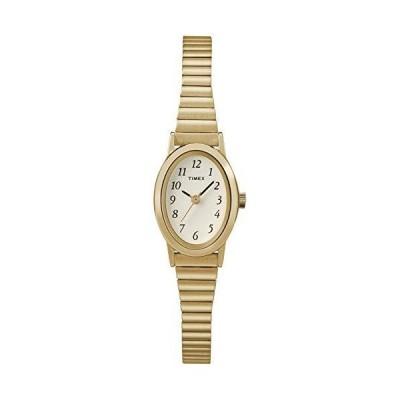 Timex T21872 女性のゴールドブレスレットバンドホワイトスマートウォッチダイヤル
