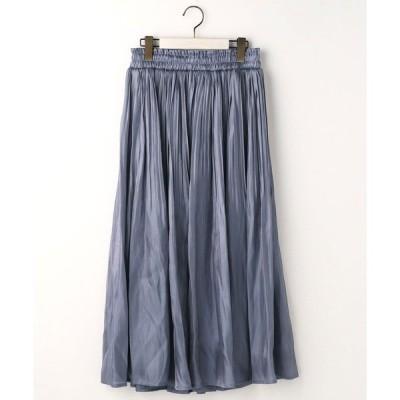 スカート シャイニーサテンスカート