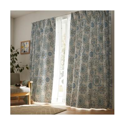 万華鏡のように華やかなフラワー柄遮光カーテン ドレープカーテン(遮光あり・なし) Curtains, blackout curtains, thermal curtains, Drape(ニッセン、nissen)