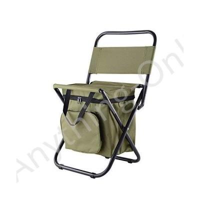 新品 UNISTRENGH Outdoor Folding Fishing Chair Portable Camping Stool Foldable Chair with Double Layer Oxford Fabric Cooler Bag for Fishing Beach (