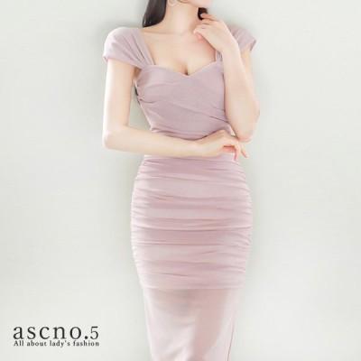 *在庫限り*ワンピース ワンピ ドレス ベージュピンク タイト ミディアム丈 きれいめ 韓国 韓国ファッション 30代 40代