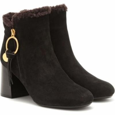 クロエ See By Chloe レディース ブーツ ショートブーツ シューズ・靴 louise suede ankle boots Nero