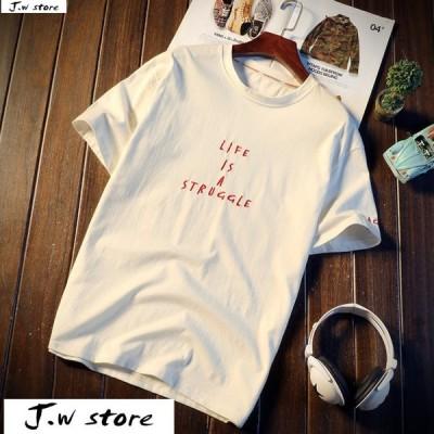 メンズ Tシャツ 半袖 トップス カットソー シャツ クルーネック 丸首 ファッション おしゃれ 大きいサイズ オーバーサイズ 夏 綿 2020