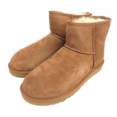【中古】未使用品 アグ UGG 5854 ムートン ブーツ クラシック ミニ 2 25cm ライトブラウン 210507E 靴 レディース