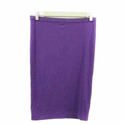 【中古】アンシャントマン ENCHANTEMENT スカート タイト ひざ丈 40 紫 パープル /AAM3 レディース