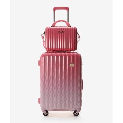 【アンドシュエット】 スーツケース≪Lunalux≫ 中 レディース ピンク FREE & chouette