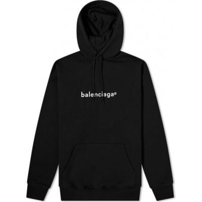 バレンシアガ Balenciaga メンズ パーカー トップス New Copyright Logo Popover Hoody Black/White