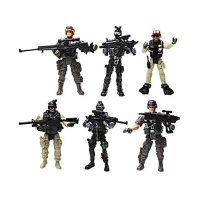兵士 アクションフィギュア おもちゃ 陸軍 男性 武器アクセサリー/SWATチームフィギュア 軍隊プレイセット 男の子 女の子 子供 3 4 5 6