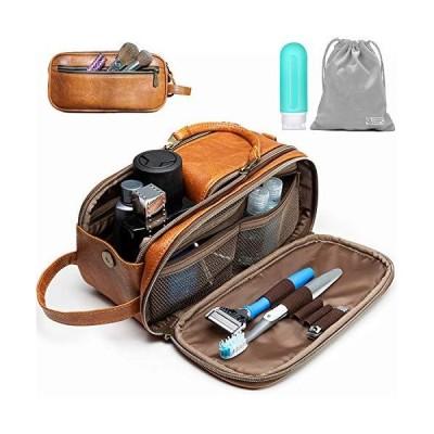 洗面用具バッグ 男女兼用 - 旅行用ドップキット。 大きな化粧品とシェービングバッグ。 トイレタリー