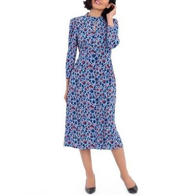 マギーロンドン レディース ワンピース トップス Floral Print Matte Jersey Midi Dress