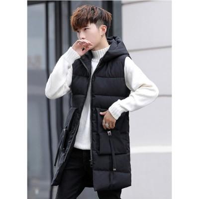 ベスト ダウン風ベスト 中綿ベスト ダウンジャケット メンズ アウター トップス 大きいサイズ 暖かい 防風防寒 撥水加工 防寒着