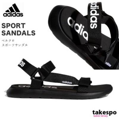 アディダス サンダル レディース adidas スポーツサンダル スポサン ベルクロ ストラップ EG6514 BLK 21SS