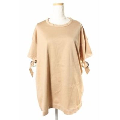 【中古】チノ CINOH Tシャツ カットソー Oリングスリーブ 半袖 38 ベージュ /kk0402 レディース