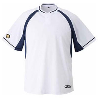 デサント ベースボールシャツ(SWNV・サイズ:S) DESCENTE 2ボタンベースボールシャツ(レギュラーシルエット) DS-DB103B-SWNV-S 【返品種別A】
