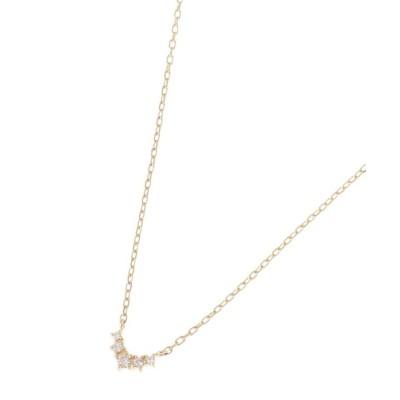 【ココシュニック】 ダイヤモンド グラデーションV字 ネックレス レディース イエロー ゴールド 40 COCOSHNIK