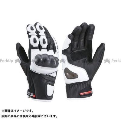 【雑誌付き】DAYTONA ライディンググローブ HBG-036 ALLスポーツショートグローブ(ブラック/ホワイト) サイズ:L デイトナ