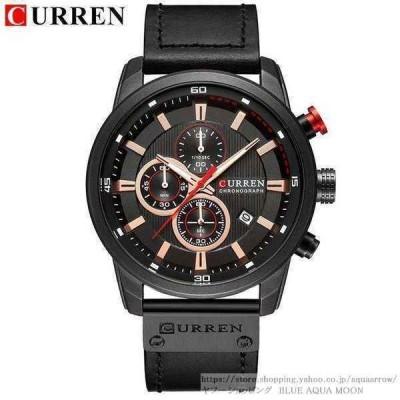 腕時計 メンズ 40代 20代 30代 おしゃれ 安い クォーツ ブラック