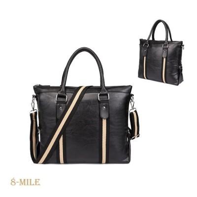 ショルダーバッグ メンズ バッグ 斜め掛け 2WAY ビジネスバッグ ワンショルダーバッグ トートバッグ 鞄 フェイクレザー PUレザー 2020